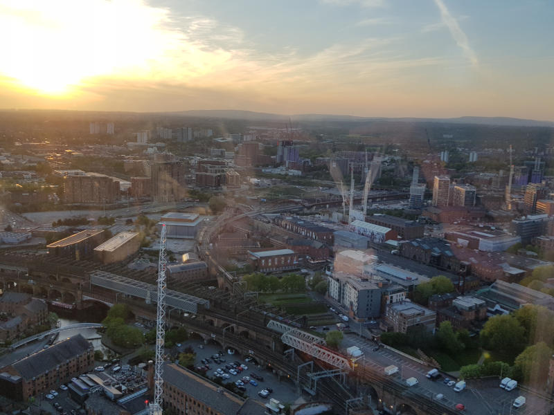 Happy Hour Networking Manchester West Tower Sunset